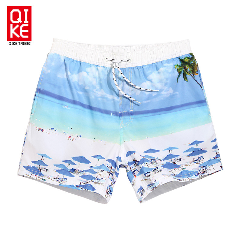 Chic Beach Shorts Men Quick-Dry Seaside Loose-Fit Shorts Holiday Hot Springs Swimming Trunks Summer
