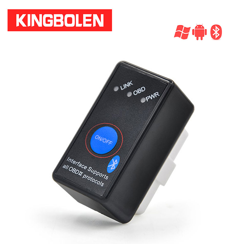 Car Diagnostic Tool 16Pin Mini OBD2 Eml327 V1.5 Bluetooth Power Switch 12V OBDII Car Code Reader ELM 327 for Android