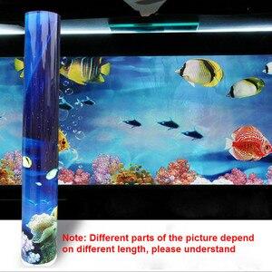 Image 5 - Pôster de fundo de aquário, fundo dupla face de pvc para decoração de parede de tanque de peixes 30/40/50cm (altura)