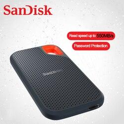 SanDisk внешний портативный SSD 500 Гб ТБ 2 ТБ 550 МБ/с./с жесткий диск pssd USB 3,1 твердотельный диск Type-C для ноутбука Windows Mac