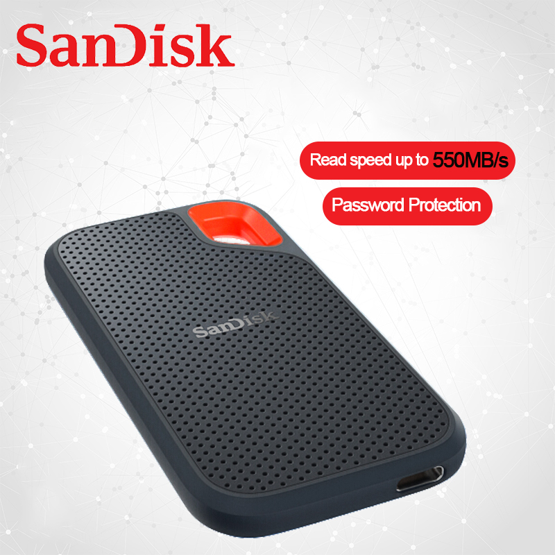 SanDisk External Portable SSD 500GB 1TB 2TB 550MB/s Hard Drive Pssd USB 3.1 Solid State Disk Type-C For Windows Mac Book Laptop