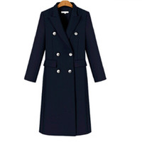 New Spring Autumn Women Blazers Fashion Long Style Double Button Slim Solid Turn Down Collar Blazers For Women Suit Outerwear