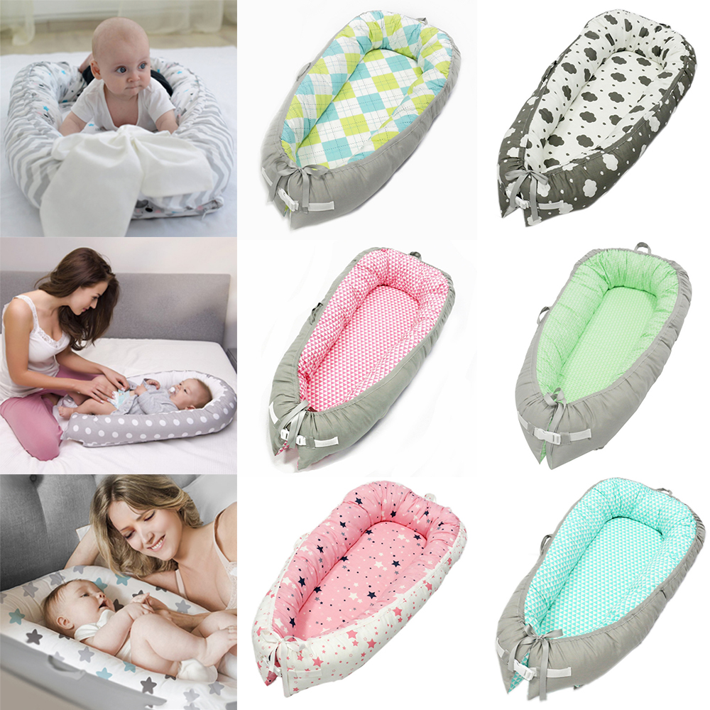 CYSINCOS Baby Nest Bed Portable Crib Travel Bed Infant Toddler Cotton Cradle For Newborn Baby Bassinet Bumper Boy Girl Baby Beds