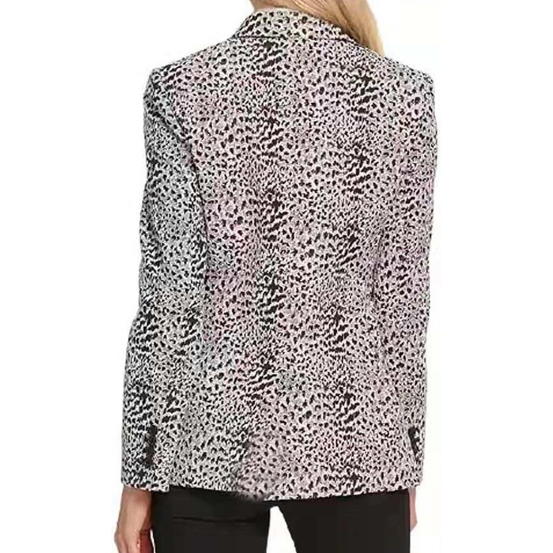 H4da0acecbbb7493195c1f4969ac8c1bej Fashion Trend Women Lapel Leopard Print Long Sleeves Suit Jacket Elegant Fall Winter Office Lady Cardigan Coat Casual Streetwear