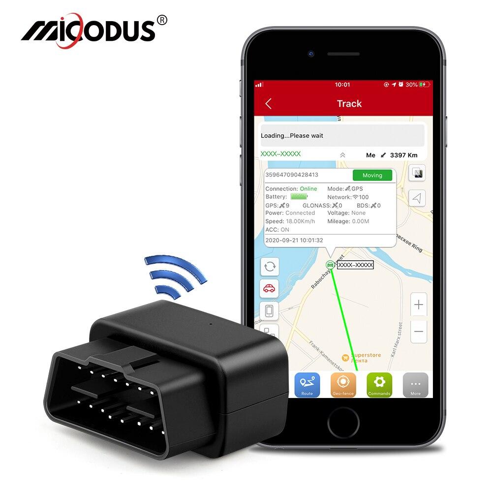 Мини OBD GPS-Трекер OBD2, автомобильный трекер Micodus MV33, отслеживание в режиме реального времени, GPS-локатор, аварийное отключение и сигнализация, б...