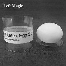 Super latex egg 2.0-pequeno buraco versão (1pc/caso) truques de magia real-olhando ovo magia estágio ilusões gimmick accessores engraçado