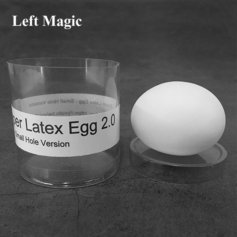 Super Latex Egg 2.0 - Small Hole Version(1pc/case) Magic Tricks Real-looking Egg Magia Stage Illusions Gimmick Accessores Funny