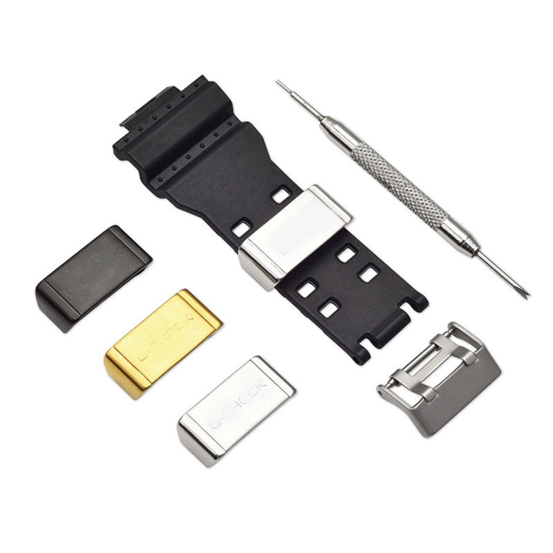 Stainless Steel Watch Strap Loop For Casio G-Shock GA-110 GA120 DW-5600 GW-M5610 Watch Band Strap Safety Buckle Clasp Hoop Ring