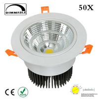 LED Downlight 30W Spot Dimbare LED COB DownLight AC85-265V LED Spot Inbouwspot Wit huis