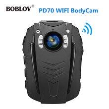 BOBLOV PD70 واي فاي بوديكام 64G 1296P يمكن ارتداؤها كاميرات للجسم للرؤية الليلية ضوء الكاميرا والجسم الصغير كام 170 درجة لإنفاذ القانون