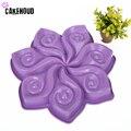 7 лепестковая бленда объектива типа цветок с Тип силиконовые формы мусс формы для выпечки торта DIY тостов с антипригарным покрытием для выпе...
