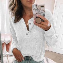 Women's screw thread round collar button blouse solid long leeve  tops loose women blouses casual office lady summer autumn 2021