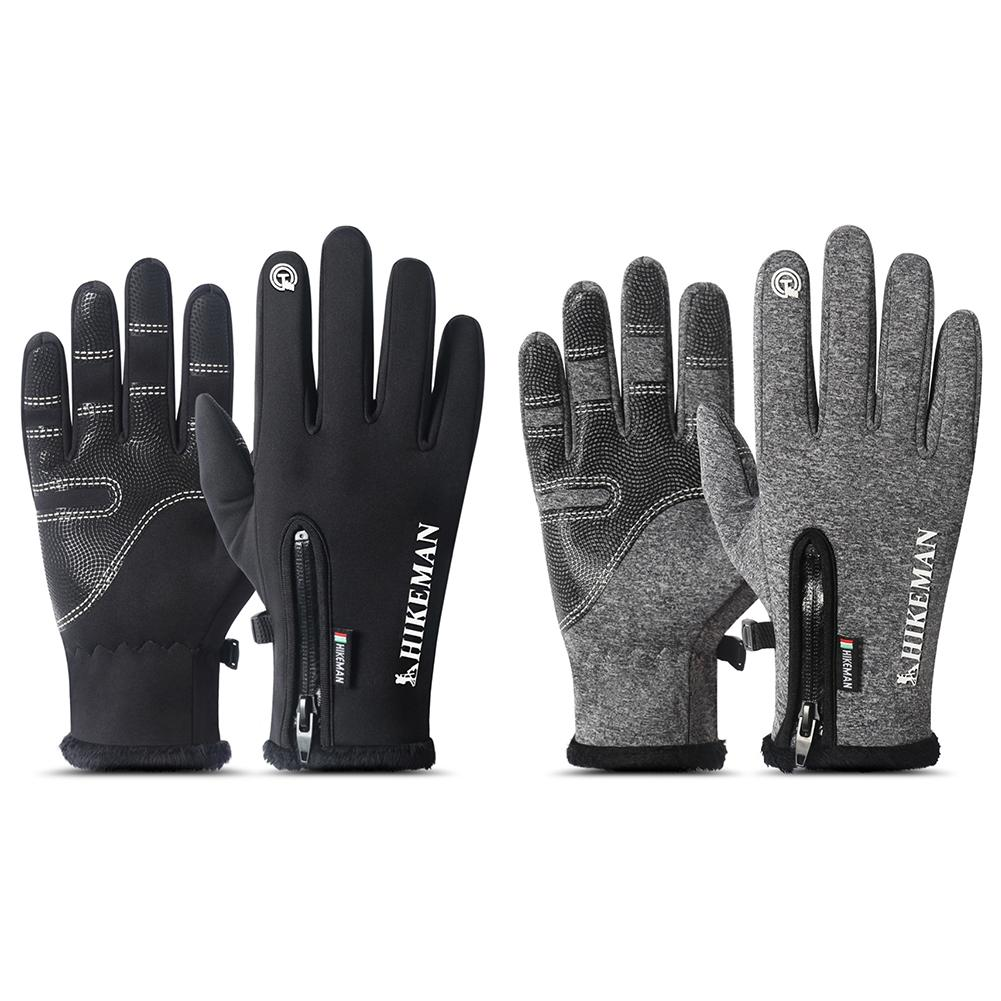 Waterproof Winter Thermal Warm Full Finger Gloves Cycling Anti-Skid Touch Screen