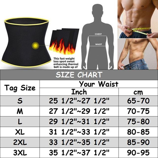 Men's  Waist Trainer Body Shaper Belt Gym Slimming Corset Belly Abdomen Neoprene Sauna Belt Fat Burning Loss Sweat Shapewear 1