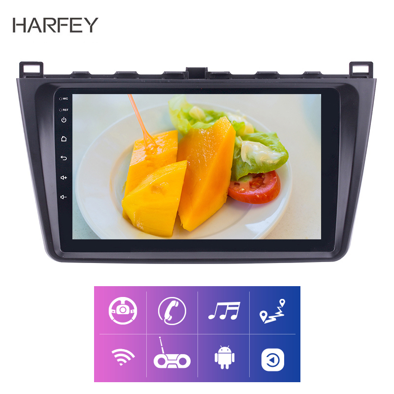 Harfey car Multimedia Player 9 Inch GPS Car Radio Android 8.1 2DIN For Mazda 6 Rui wing 2008 2009 2010 2011 2014 Backup camera-in Car Multimedia Player from Automobiles & Motorcycles    1