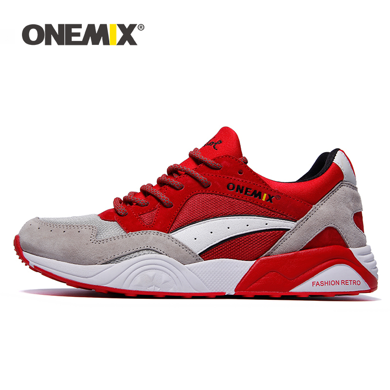 ONEMIX Brand Shoes Men Sneakers Light Weight Breathable Lace-up Running Shoes Outdoor Chaussures De Retro Jogging Sport Shoes