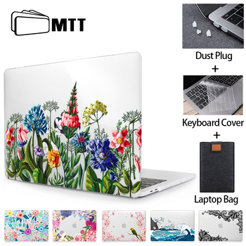 MTT Floral Laptop Case For Macbook Air Pro 11 12 13 15 16 Touch Bar Crystal 2020 Hard Cover for macbook air a2179 a1932 a1466 - discount item  35% OFF Laptop Parts & Accessories