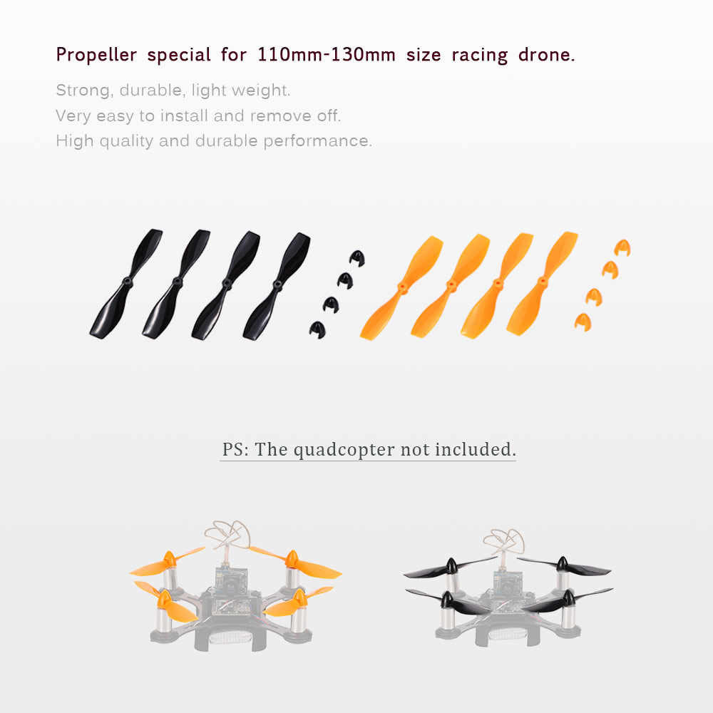 4 pares de hélice CW/CCW para CTW-Mini110 120 130 Micro Racing Drone 2mm eje Motor sin núcleo