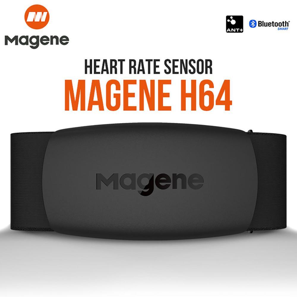 Magene – Moniteur de fréquence cardiaque Mover H64, Bluetooth 4.0, sangle de poitrine avec capteur Magene ANT+, ceinture pectorale, compatible avec ordinateur vélo Wahoo Garmin BT