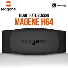 Magene-Monitor de ritmo cardíaco H64 con bluetooth 4.0, correa de pecho, pulsómetro, compatible con el protocolo ANT+, sensor, Mover, ordenador, bicicleta, marcas deportivas, Wahoo, Garmin, BT