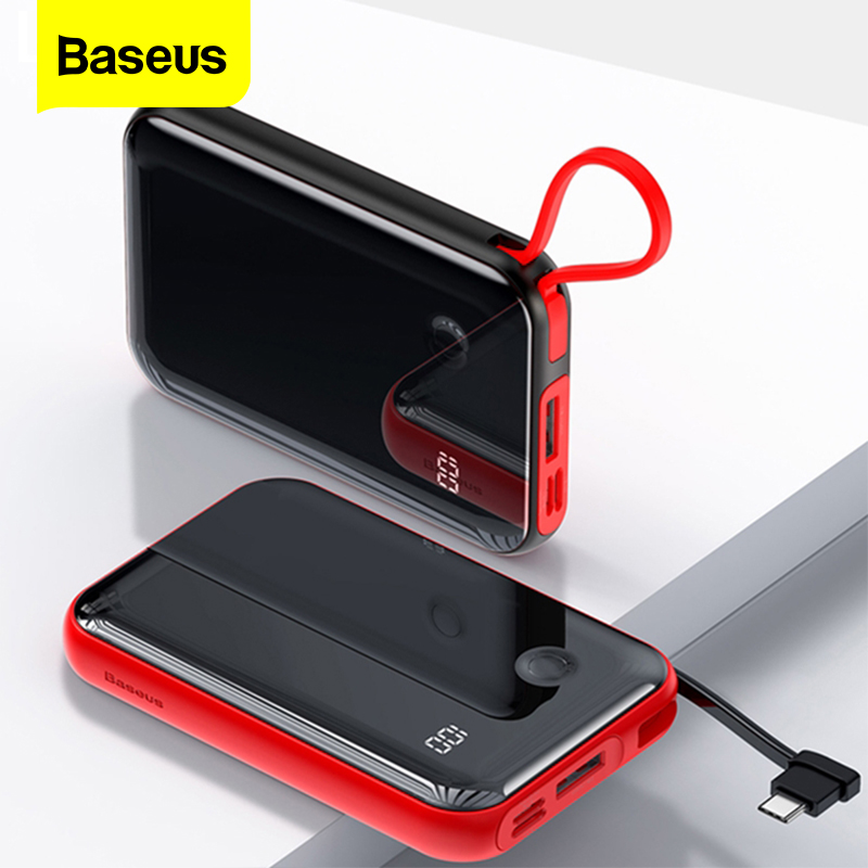 Baseus 10000mAh <font><b>Power</b></font> <font><b>Bank</b></font> Portable Charger Mini <font><b>10000</b></font> mAh Powerbank Small External Battery Pack Poverbank For Xiaomi <font><b>Mi</b></font> iPhone image