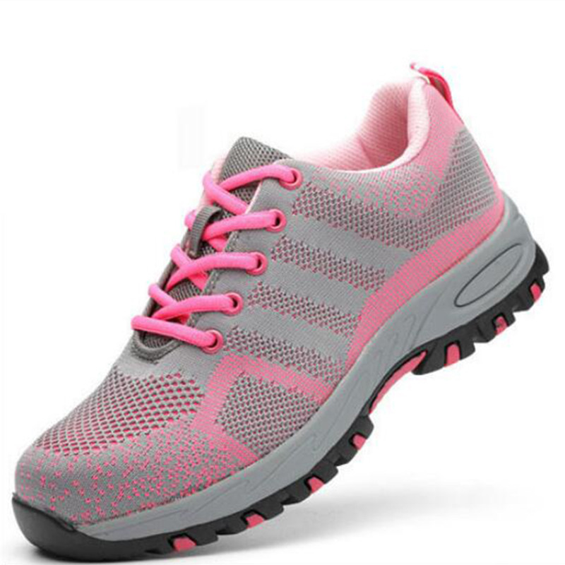 Safety Shoes Women Work Shoes Puncture-Proof Safety Boots Steel Toe Shoes Work Sneakers Security Shoes