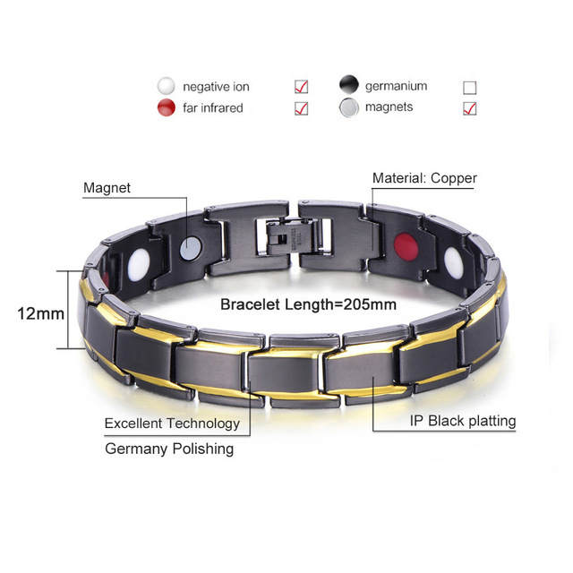 Magnetic Healthcare Weight Loss Bracelet Energy Black Germanium Bracelet Slimming Therapy Acupoints Adelgazar Anti Cellulite 4