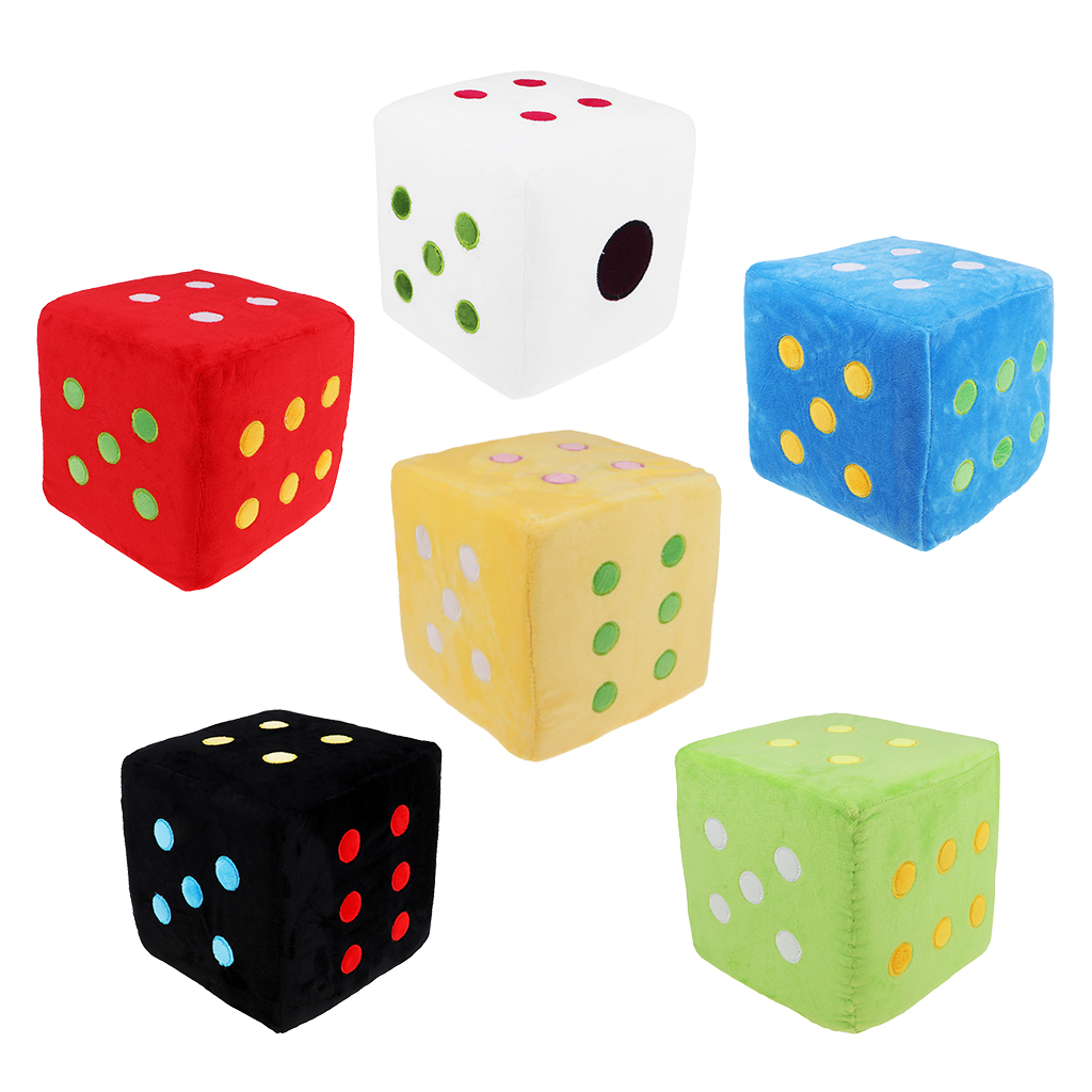 Creative Foam Plush Pillow Large Stuffed Dice Toy 20cm Length For Playing Teaching Materials D