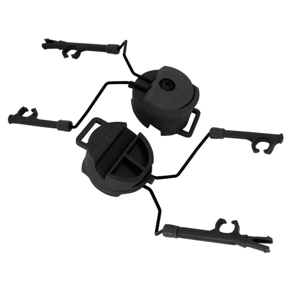 Military Peltor Helmet Headset Bracket and Fast Ops Core Helmet  ARC Rail Headset Adapter for Airsoft Headphones comtac i ii iii|Walkie Talkie Parts & Accessories| |  - title=