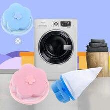 Bolsa de malla para filtro de eliminación de pelo, bolsa de pelotas de limpieza, Colector de fibra sucia, lavadora, disco de bola de lavandería, novedad