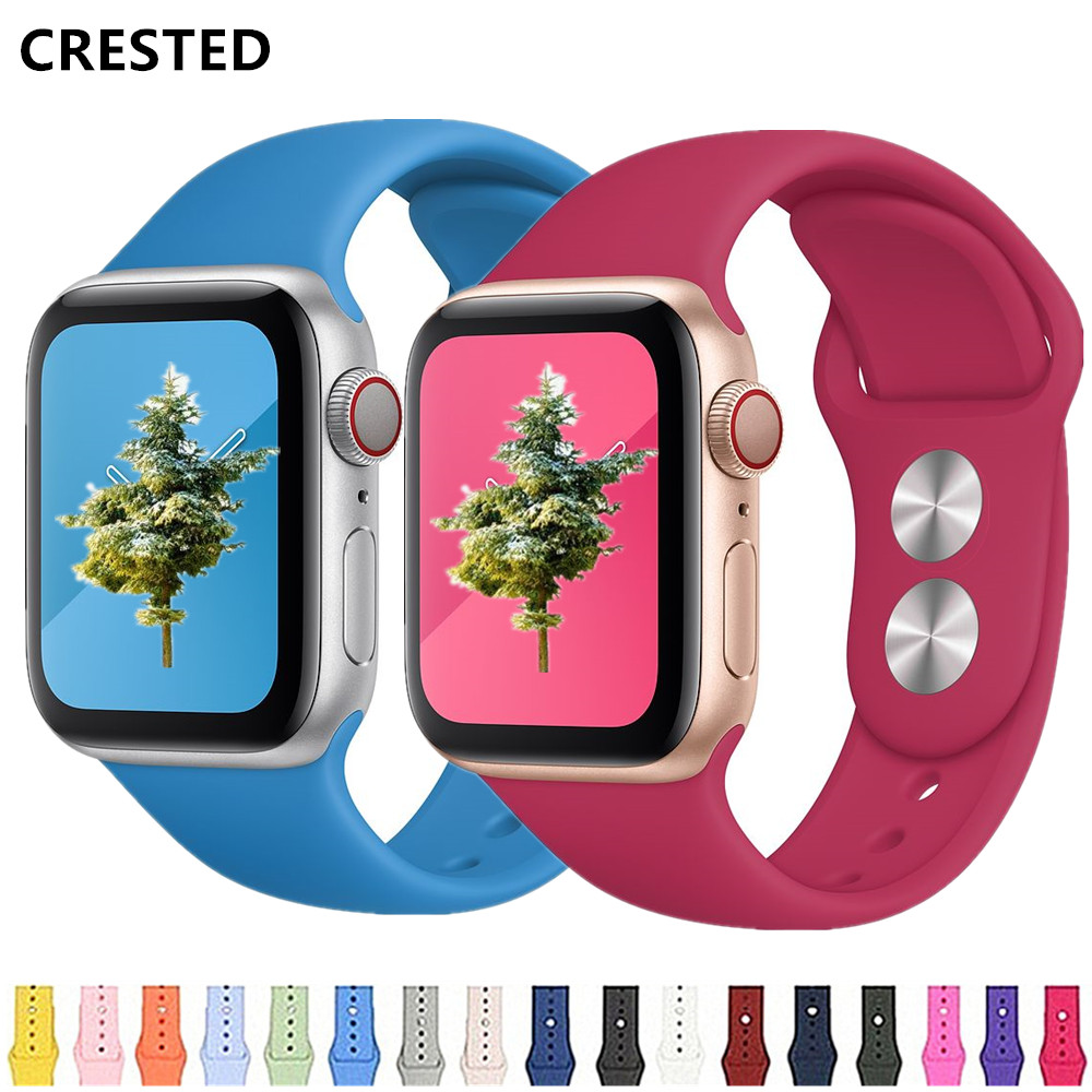 Strap For Apple Watch Band 44 Mm/40mm 42mm 38mm Silicone Bracelet Iwatch Watchband Correa Apple Watch Series 5 4 3 2 1 44mm