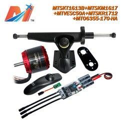 Maytech (5pcs) electro skateboard 6355 motor sensored and sesorless 4 wheel electric skateboard kit