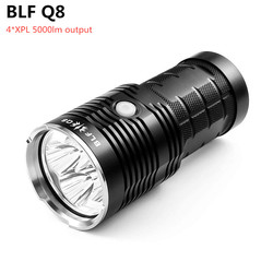 BLF Q8 4 * XPL 5000lm мощный светодиодный фонарик 18650 Профессиональный прожектор многократная операция