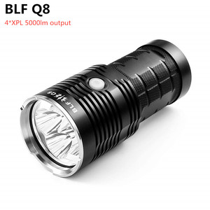 Image 1 - BLF Q8 4*XPL 5000lm Powerful LED Flashlight 18650 Professional Searchlight Multiple Operation Procedure