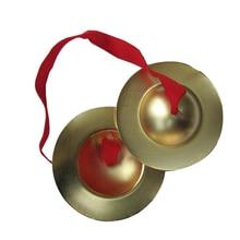 1 пара медных тарелок ручные ударные инструменты традиционный китайский гонг с пальчиковой веревкой музыкальные игрушки