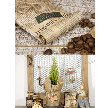 52x75cm pakowanie prezentów rolka papieru Vintage gazeta dwustronne dekoracyjne do pakowania Art Kraft na świąteczne przyjęcie kreatywny materiał Hot tanie i dobre opinie CN (pochodzenie) Gift Wrapping Paper piece 0 04kg (0 09lb ) 1cm x 1cm x 1cm (0 39in x 0 39in x 0 39in)