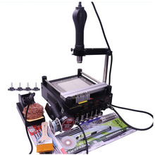 Gordak 863 3 in 1 Digita Hot Air Heat Gun BGA Rework Solder Station + Electric Soldering iron + IR Infrared Preheating Station saike 952d 2 in 1 solder rework station hot air gun soldering iron 760w