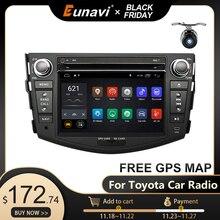 Eunavi 2 din Android 10 TDA7851 radio samochodowe dvd multimedia dla Toyota RAV4 Rav 4 2007 2008 2009 2010 2011 radioodtwarzacz gps stereo DSP