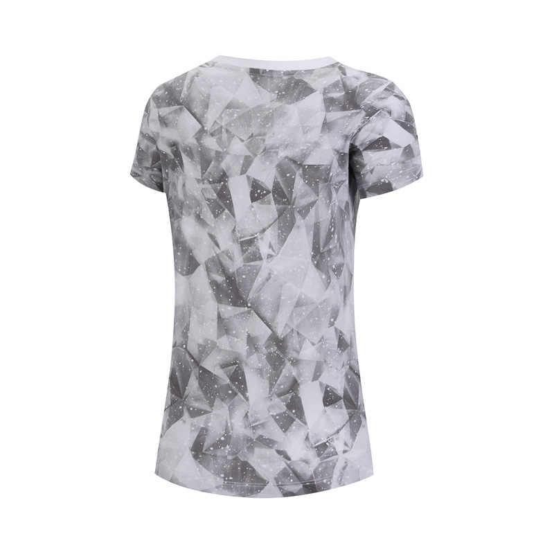 (Break Code) li-Ning Vrouwen De Trend T-shirts 100% Katoen Ademende Voering Li Ning Comfort Sport Tee T-shirts AHSN692 WTS1440