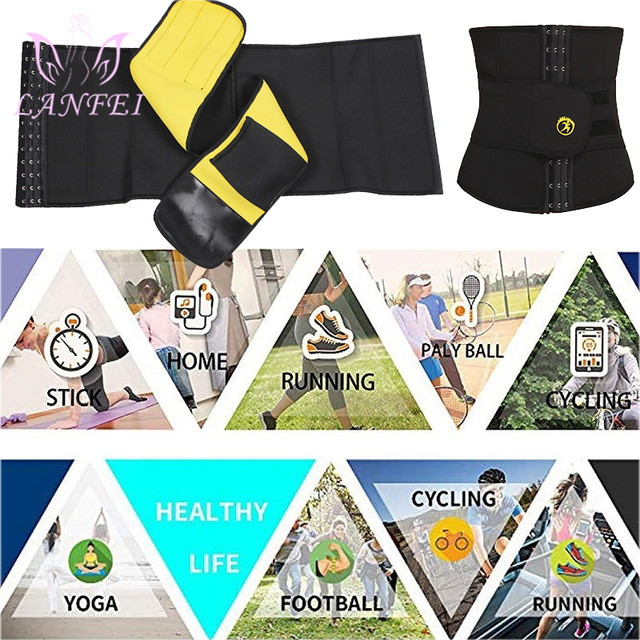LANFEI Mens Thermo Neoprene Body Shaper Waist Trainer Belts Slimming Corset Waist Support Sweat Underwear Strap Modeling Shapers 5