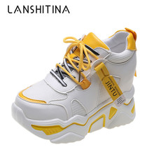 Women Shoes 2019 New Autumn Fashion Casual Mesh Platform Chunky Sneakers White Trainers Chaussure Femme