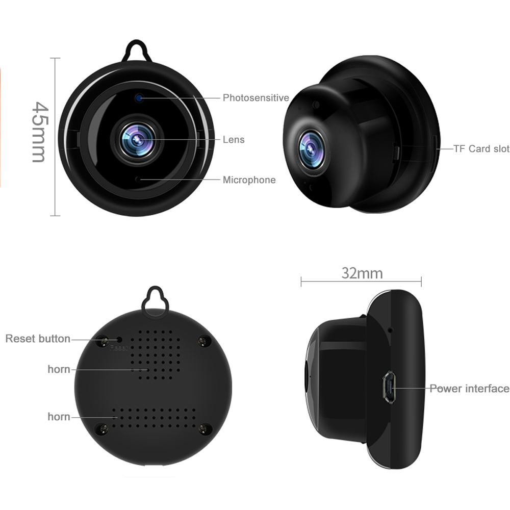720P Wireless Mini IP Camera With Night Vision Micro Cam For Your Home Security 5