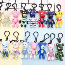 Cartoon Violence Bear Keychains CreativeSsex Violence Bear Key Chain Men And Women Car Bags Accessories Key Ring Small Gifts цена 2017