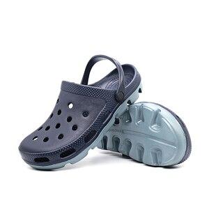 Image 4 - קיץ אופנה להחליק על גברים גומי חוף סנדלי Mens כפכפים נעלי גן Zuecos Hombre לסתום Cholas סנדל גבר בתוספת גדול גודל 49s