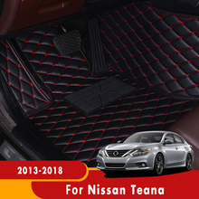 Car Floor Mats For Nissan Teana Altima L33 2018 2017 2016 2015 2014 2013 Custom Leather Carpets Foot Pads Car Styling