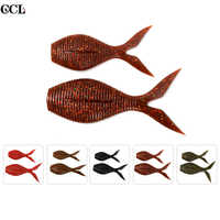 CCLTBA 2pcs/lot Wobbler Bass Fishing Tackle  Soft Plastic Salty Body Silicone Jiigging Fishing Lures Soft Minnow Swimbait