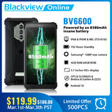 Blackview Новый BV6600 Octa Core 4 Гб + 64 Гб IP68 Водонепроницаемый 8580 мА/ч, прочный смартфон 5,7