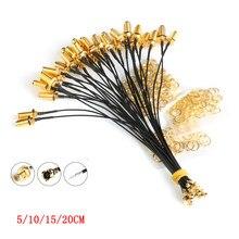 5 adet SMA konnektör kablosu dişi uFL/u.FL/IPX/IPEX RF veya konnektör koaksiyel adaptör montaj RG178 Pigtail kablo 1.13mm