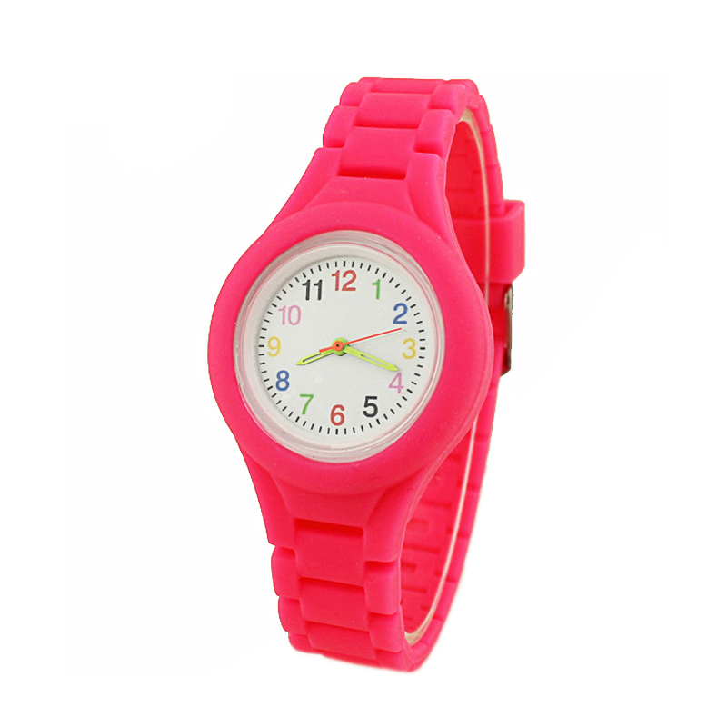 Simple Casual Solid Color Silicone Strap Children's Watch For Girls Boys Clock Kids Watches Fashion Women Quartz Wristwatches