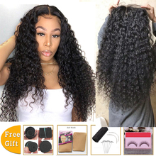 Lanqi wholesale deep wave lace front wig headband wig brazilian lace front human hair wigs for black women 4x4 lace closure wig